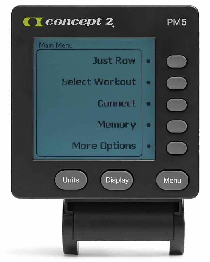 PM5-monitoren på Concept 2 romaskinen